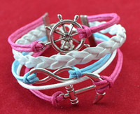 ingrosso catene d'argento corea-(Prezzo di fabbrica) infinity argento cat braccialetto in pelle di velluto colore misto a mano braccialetto catena 10 pz