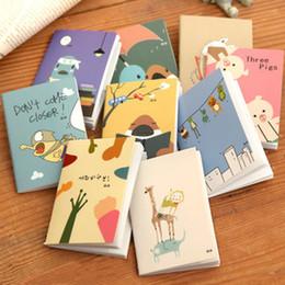 Carnets animaux en Ligne-Ordinateur portable mignon de bande dessinée coréen papeterie cahier mini note voiture ligne livre note