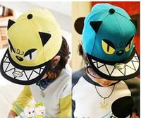bebek hip hop kapakları toptan satış-Bebek kız erkek Beyzbol şapkaları çocuk çocuklar şapka şapkaları şapka Canavar Caps şapkalar Moda Hip-hop kapaklar şapkalar güneş şapka Caps