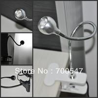 Wholesale Clip Reading Lamps - SVC310 Spotlight Desk Lamp Cree LED Switch Aluminium Base portable Flexible clip Table Reading Light for PC