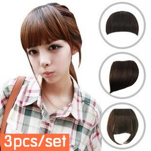 best selling ladies' hair bangs synthetic hair pieces cute fringe set -3 styles 3pcs lot drop shipping