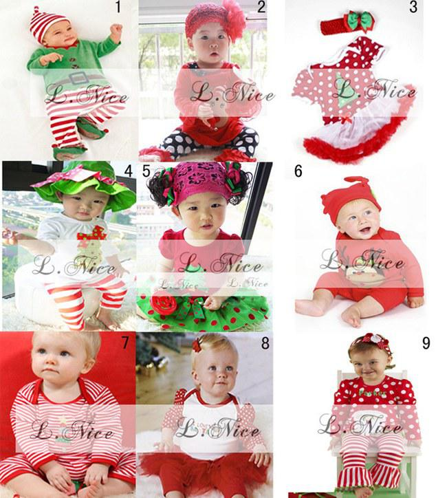 2017 New Christmas Baby Cloth Sets Girls Tutu Dress Set & Headband ...