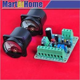 Wholesale Amp Vu - Free shipping 2pcs VU Panel Meter Warm Back Light + VU Driver PCB Board Stereo f Audio Amp New #BV215 @CF