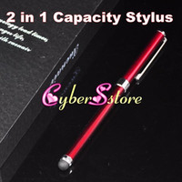 Wholesale High Quality in Capacitive Stylus Touch amp Writing Ink Pen For iphone G S iPad IPOD HTC Samsung Galaxy S4 All Cellphone