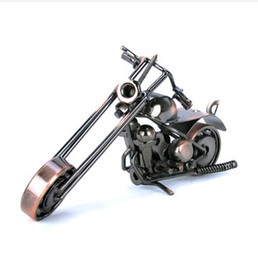 Wholesale Ornaments Iron - DIY Motorcycle Iron Metal Motorcycle Model Cool Retro Handmade for Home Decoration Best Gift Free Shipping With Tracking Number M39