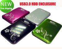 sabit disk kutuları toptan satış-USB 3.0 2.5 inç SATA Harici HDD Sabit Disk Disk Kasa Muhafaza Kutusu