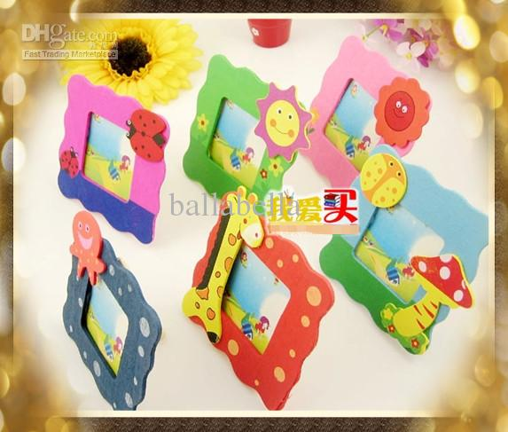 Cute kids picture frame cheap craft picture frame made of for Craft picture frames bulk