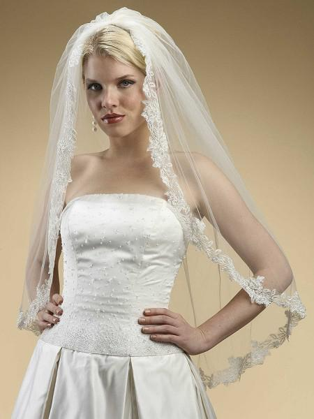 Cheap Veil!!Bridefashion 2013 Hot Sale Chic Bridefashion One Layer Tulle Lace Bridal veil91
