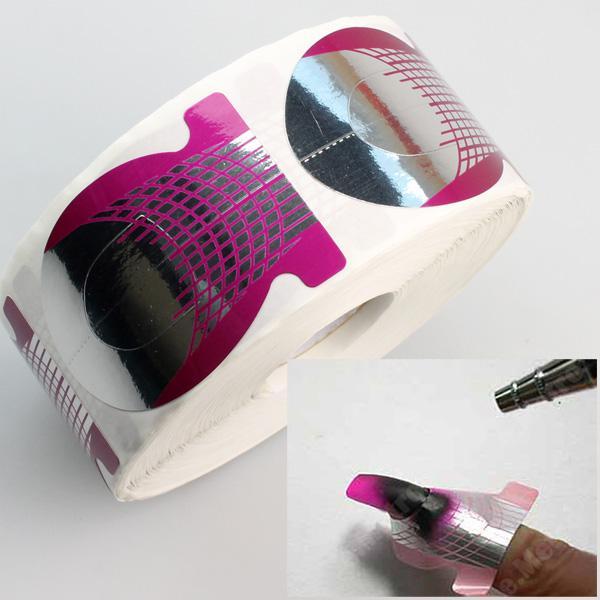 500tips/Pcs Forms Nail Art Sculpting Uv Gel Tips Telfon Nail Forms ...