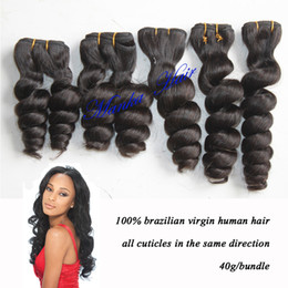 Wholesale Brizilian Hair Weave - new style 100% Brizilian virgin human hair extension twist 12-20inch natural color 40g piece=1.4oz all cuticles in same direction