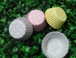 Wholesale Hot Pink Cupcakes - 2013 fashion 2.5inch 1000pcs new hot yellow purple pink mix color type cupcake liners baking paper cup muffin cases for party