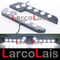 Wholesale L Shaped Led Drl - White 2x6 LED L 7 F Shape Eagle Eye Daytime Running Light DRL Waterproof Tail Backup Reverse High Power Lights Like Bens E class