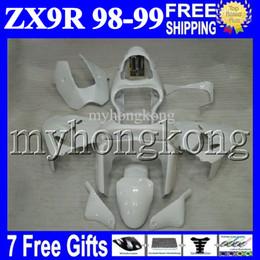 Discount pearl white fairing - 7gifts 100%NEW For KAWASAKI NINJA ZX9R 98-99 ZX-9R Pearl White 9 R 98 99 MK#1609 ZX 9R 1998 1999 NEW ALL White Free Cust