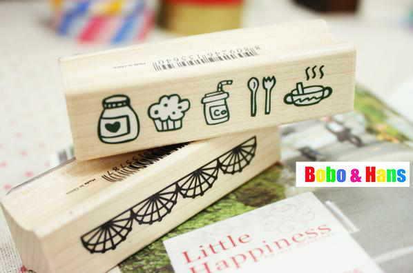 Free Shipping/New 1 pcs/set lace & cartoon series stamp set / PVC box / Decorative DIY funny work / Wholesale