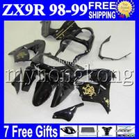 Wholesale zx9r gold for sale - Group buy Black gold gifts NEW For KAWASAKI NINJA ZX9R ZX R R MK ZX R golden black Free Custom Bodywork Fairing