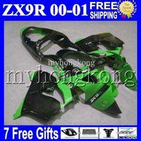 Wholesale high quality fairings for sale - Group buy 7gifts For KAWASAKI NINJA ZX9R HOT Green black MK High Quality ZX R R ZX R Green black Full Fairings Kits