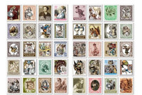 Wholesale New paper ALICe DOROTHY stamp deco Sticker Index Label Fashion