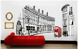 Wholesale Free Shipping Bedroom Furniture - Roma Street furniture bedroom large removable wall decals vinyl tree wall decoration stickers free shipping