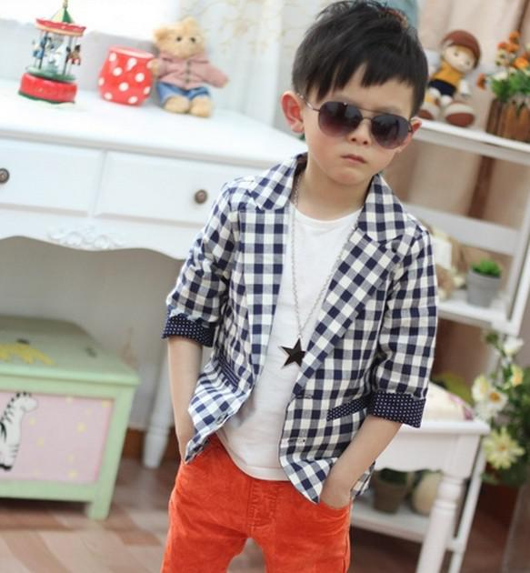 Kids Korean children boys suit jacket leisure small suit sleeve dress  spring and autumn baby baby 65ea3069298b