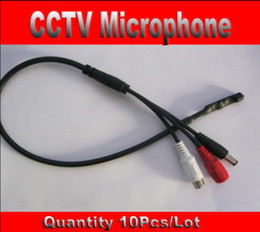 Wholesale Dvr Security Microphone - Mini CCTV Microphone 10pcs lot Wide Range for CCTV Security Camera Audio Surveillance DVR,Audio Receiver Free Shipping