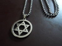 Wholesale Party Graphics - HOT Star of David pendant divine power graphics lucky talisman Stainless Steel Pendant neckalce good gifts