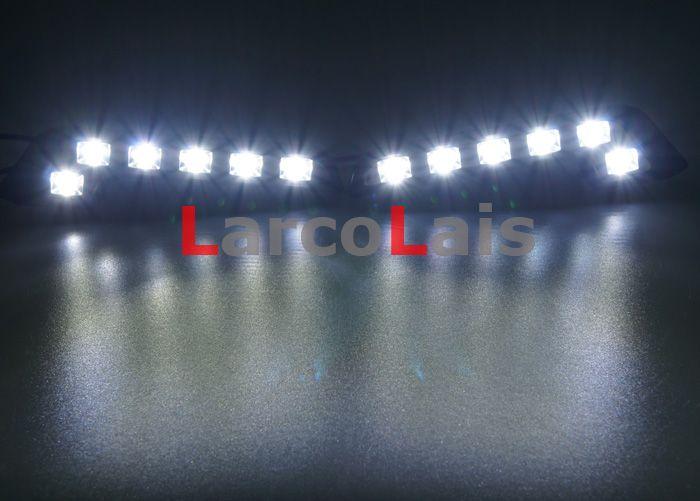 2x6 LED Tagfahrlicht DRL Fahren Tageslicht Auto Nebelscheinwerfer Super Bright