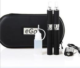 Wholesale E Cig Case Set - E-Cigarette MT3 EVOD Starter kit E-cig Kits EGO-T kit Double cigarettes zipper Case pack various colors 650 900 1100mah 20pcs ego kits