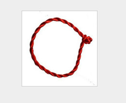 Wholesale Chinese Red String Bracelets - Chinese elements natal Not bracelet,lucky red string bracelet red string bracelet 500pcs D211