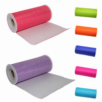 "Wholesale Decorated Tulle Rolls - 5pcs TULLE Roll Spool 6""x25Y Tutu Wedding Gift Bow Craft Bridal Decorating 15 color"