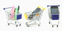 alışveriş sepeti telefon tutucusu toptan satış-En son MINI Süpermarket Alışveriş Sepeti şekilli Taşınabilir saklama sepetleri / Cep Telefonu Tutucu için takım