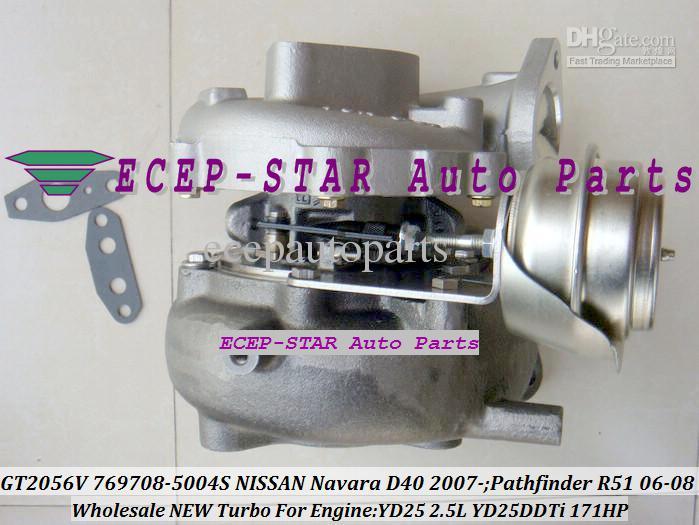 GT2056V 769708-5004S 769.708 14411EB70A 14411EB70A Turbocharger Turbo voor Nissan Navara D40 07- Pathfinder R51 06- YD25DDTi YD25 2.5L 171HP