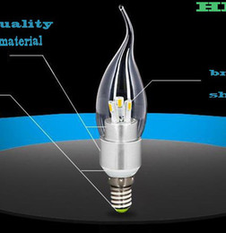 Wholesale E14 Base 5w Led Candle - Special !!! 10XHigh power led bulb 5W E12 E14 base LED Dimmable candle light