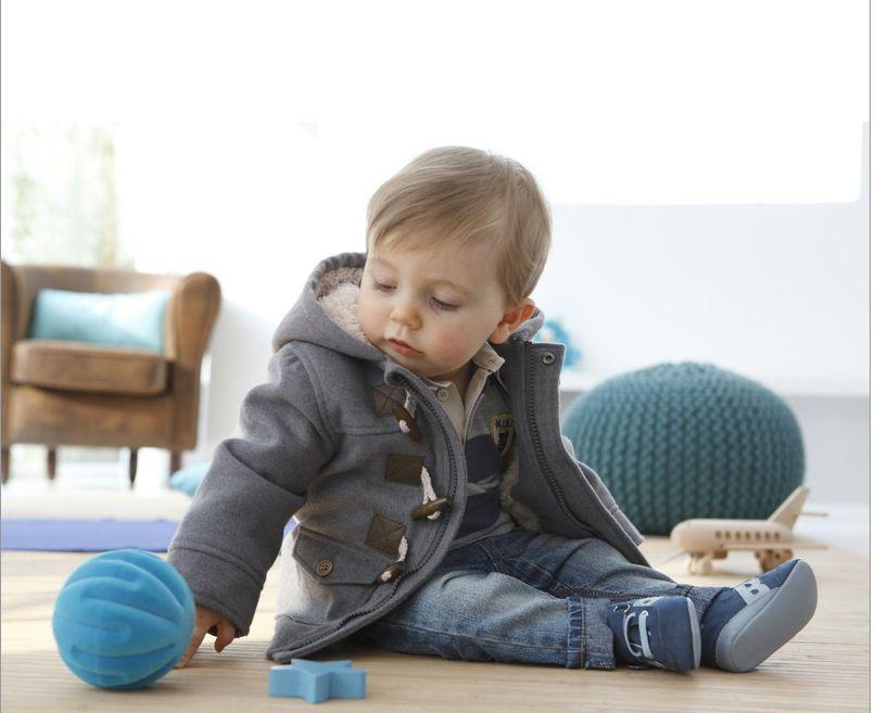 Venta al por menor Baby Boys trinchera de invierno prendas de abrigo prendas de vestir Sudaderas con capucha Abrigo doble talla 5 tamaños (80-90-100-110-120cm)