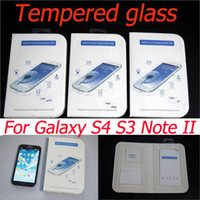 Wholesale Galaxy Note Ii Screen Protector - Glass film 9H Tempered Glass Screen Protector explosionproof Glass film For Samsung galaxy S3 S4 I9300 Note II N7100 free shipping