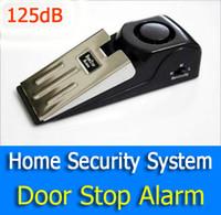 luz estroboscópica de alarma al por mayor-125dB práctica Super Window Door Stop alarma alarma antirrobo Sistema de seguridad para el hogar con pilas para el hogar interior 2pcs / lot
