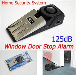 Wholesale Home Theft Alarm - Super Window Door Stop Alarm 3-Mode Home Security System Anti-Theft Burglar Alarm Battery Powered Free shipping