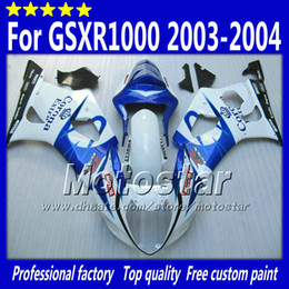 7 gifts abs fairings for SUZUKI GSX-R1000 K3 2003 2004 GSXR1000 03 04 GSX R1000 glossy white black Corona fairing bodywork SA83