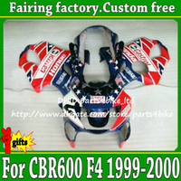 Wholesale Moto Fairings - Popular blue red new aftermarket for CBR600 1999 2000 Honda CBR 600 F4 99 00 high grade moto fairings kit CBR600F4 with 7 gifts df29