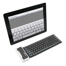Wholesale Dustproof Wireless Keyboard - Portable Universal Soft Silicone Bluetooth Wireless Keyboard for Tablet PC iPad Air Por Galaxy Tab Waterproof Dustproof Foldable
