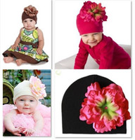 Wholesale Doomagic Girls - hot sale 2013 doomagic baby bonnet hats girls' caps children's flower hat beanie christmas gift headwear baby's cap beret D113