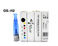 Wholesale Electronic Cigar Atomizer - Electronic Cigars H2 Atomizer No Wick Rainbow Colors Cartomizer Compatible With All EGO Battery E-cigars GS-H2 Clearomizers