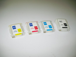 m cartridge UK - Empty CH565A,C4836A C4837A 4838A Refillable ink cartridges with Auto reset chips for HP desingjet 111 plotter,BK:69ml,C,M,Y:28ml