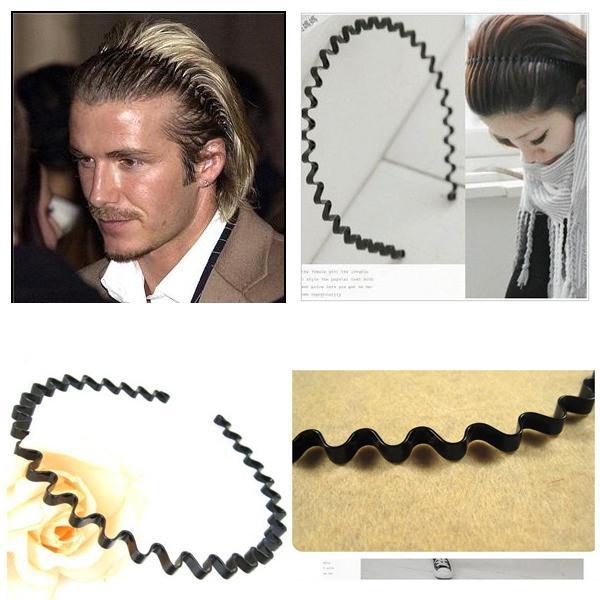 2019 Unisex Ladies Men Beckham Black Wave Hair Band