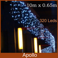 10m * 0.65m LED Curtain Lights String 320 leds Christmas Party Wedding  Holiday Decoration Flash String Fairy Lights Hot