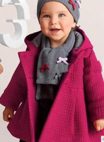 Wholesale Pink Coat Flared - Wholesale - GIRLS' autumn outfit coat children outwear wind coat boy winter pink and red coat baby girl 's outwear Hooded flared