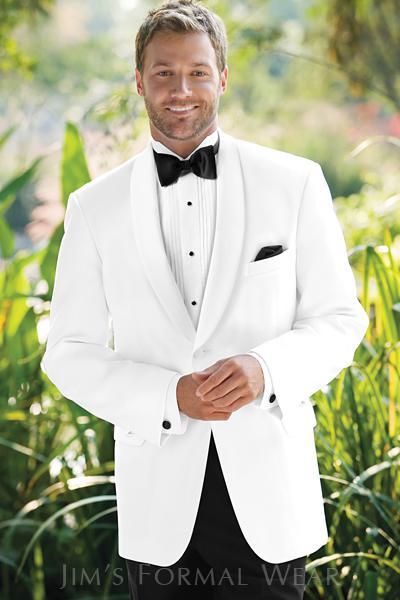 2017 Custom Made White Jacket Black Pants Groom Tuxedos Wedding ...