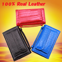 Wholesale Leather Messenger Bag Cheap - Crocodile pattern 100% genuine leather wallets Top Quality single shoulder bag Handbag messenger bags women tote Cheap Fashion ladies' money