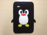 galaxy 3d silicon achat en gros de-10PCS 3D Penguin Cute Cartoon Case pour Samsung 7