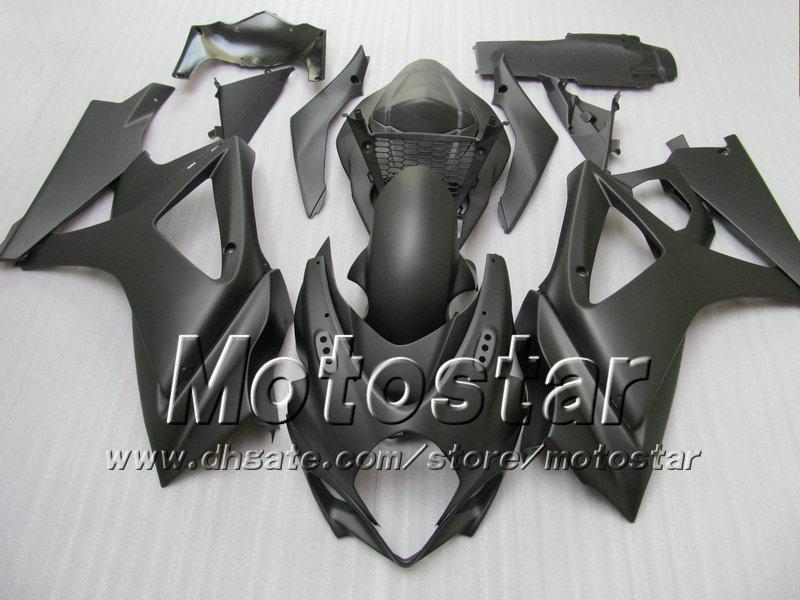 7gifts! Carnaves de carrocería para Suzuki GSXR 1000 2007 GSXR1000 07 08 GSX-R1000 2008 K7 All Flat Black SD14 con 7 regalos