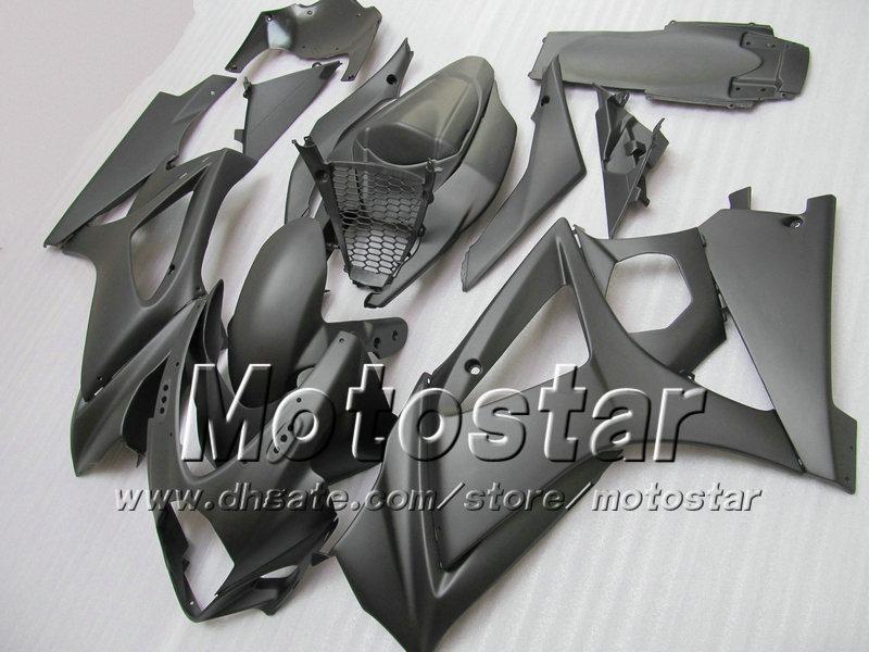 7GIFTS! Carenagem para SUZUKI GSXR 1000 2007 GSXR1000 07 08 GSX-R1000 2008 K7 todos preto Sd14 com 7 presentes